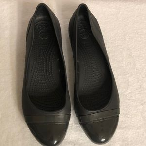 CROCS Black and Used Size 8